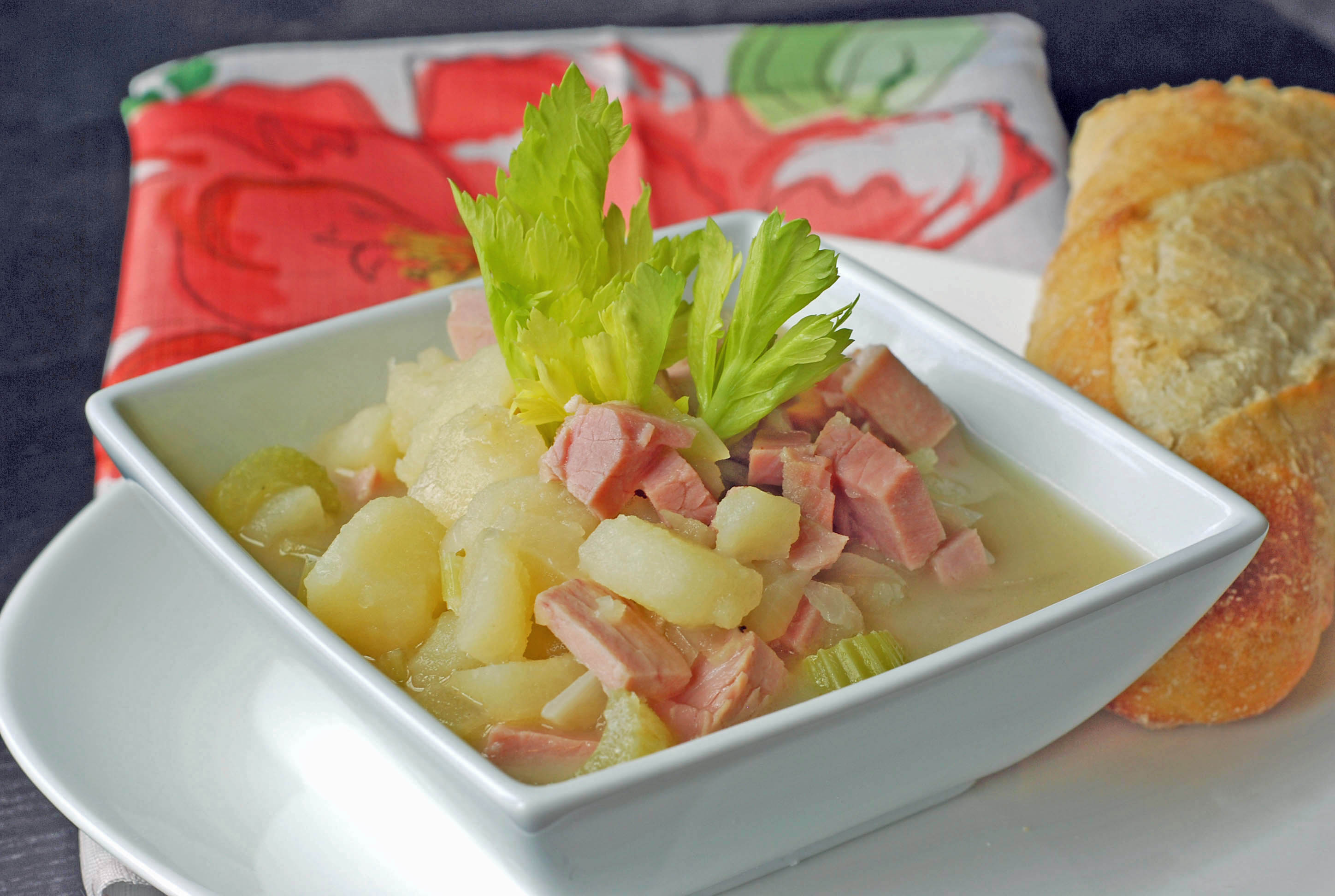 Ham and Potato Soup | Blissfully Delicious