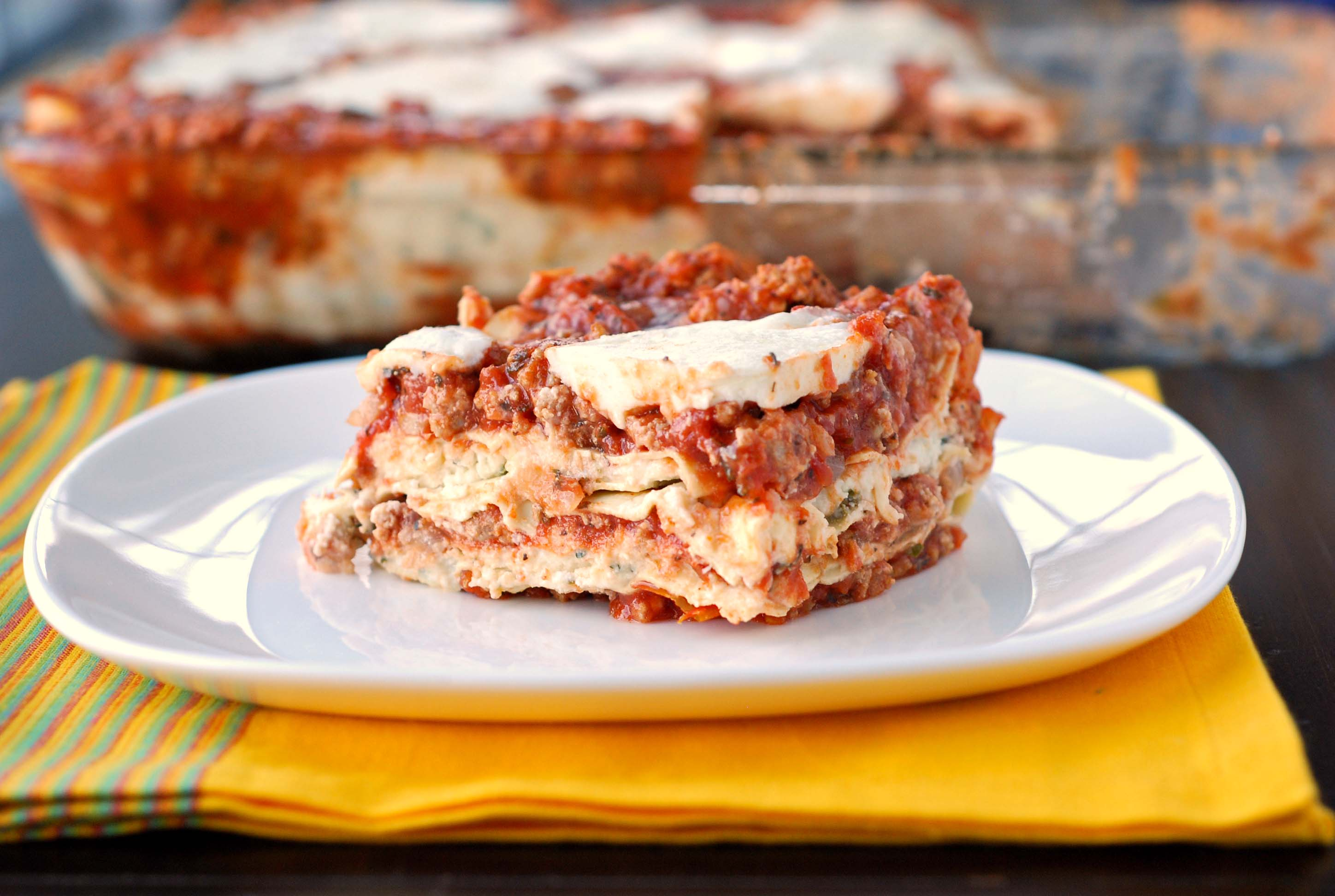 Turkey Lasagna Blissfully Delicious