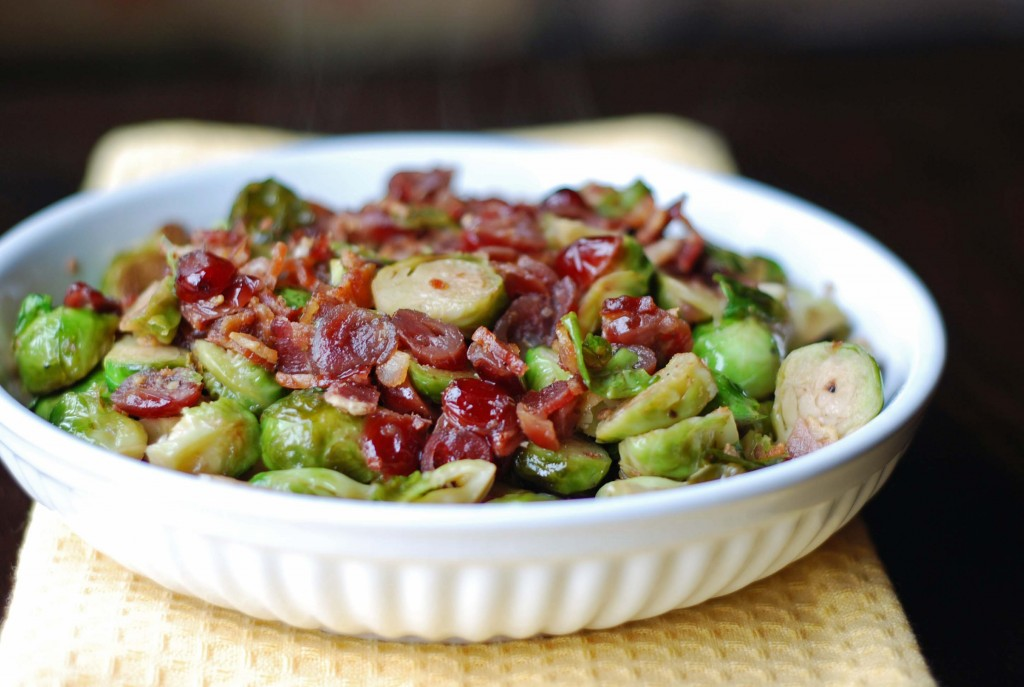 brussel sprouts lardons blissfully delicious
