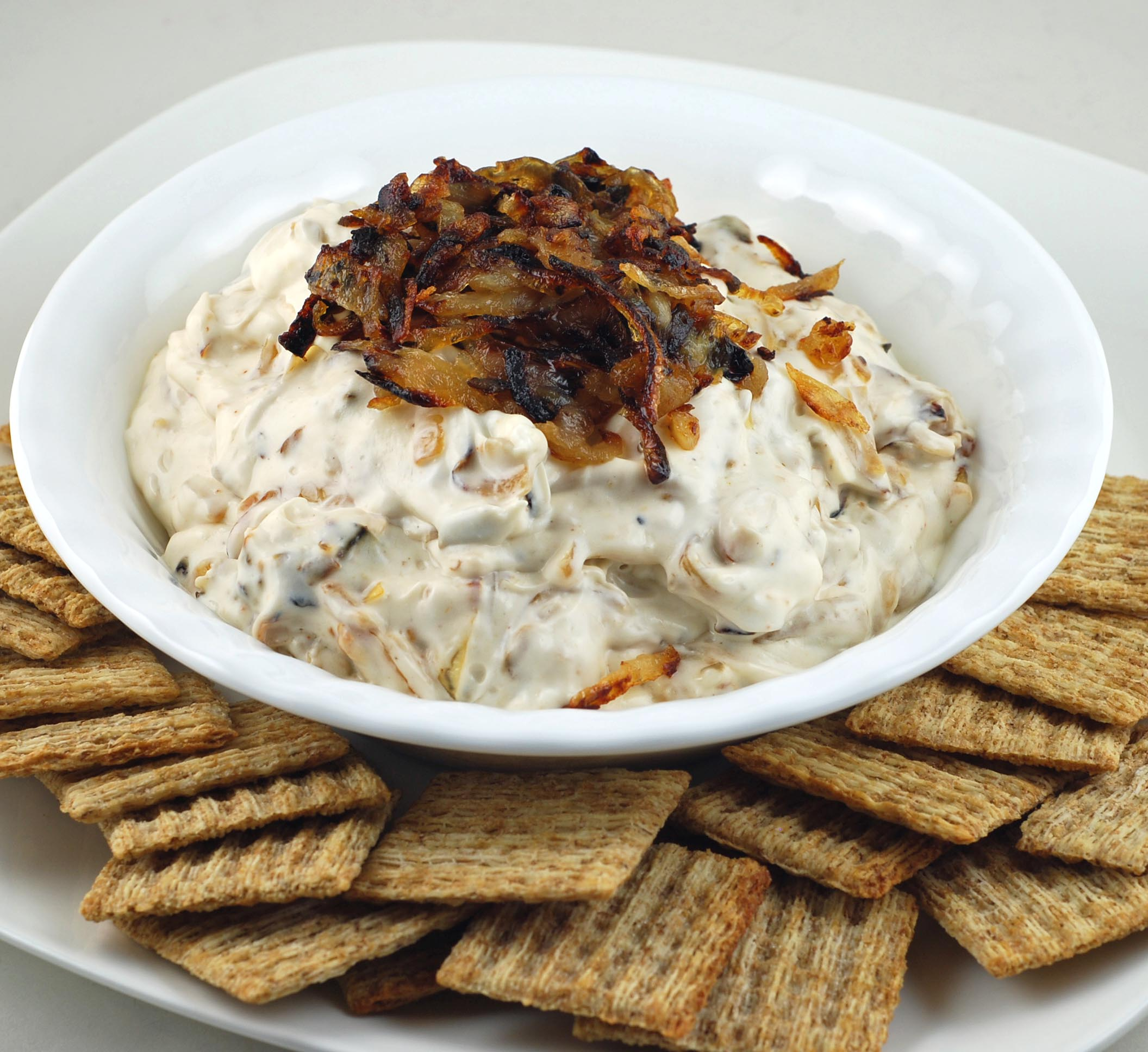 pan fried onion dip blissfully delicious