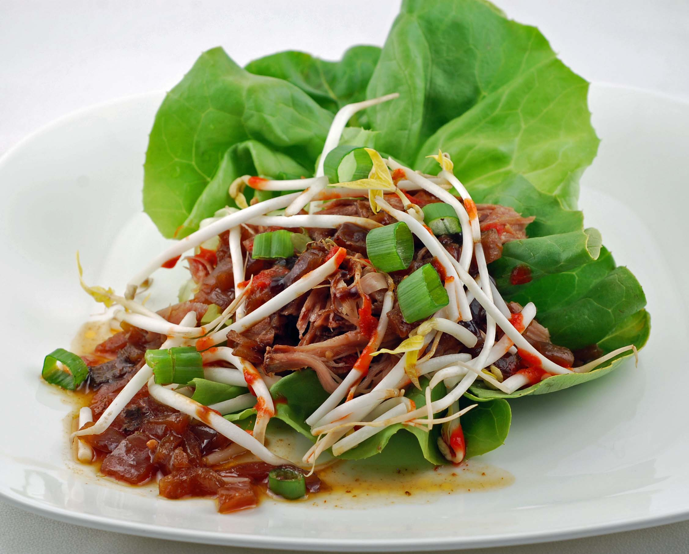 Slow-Cooked Hoisin And Ginger Pork Wraps With Peanut Slaw Recipes ...