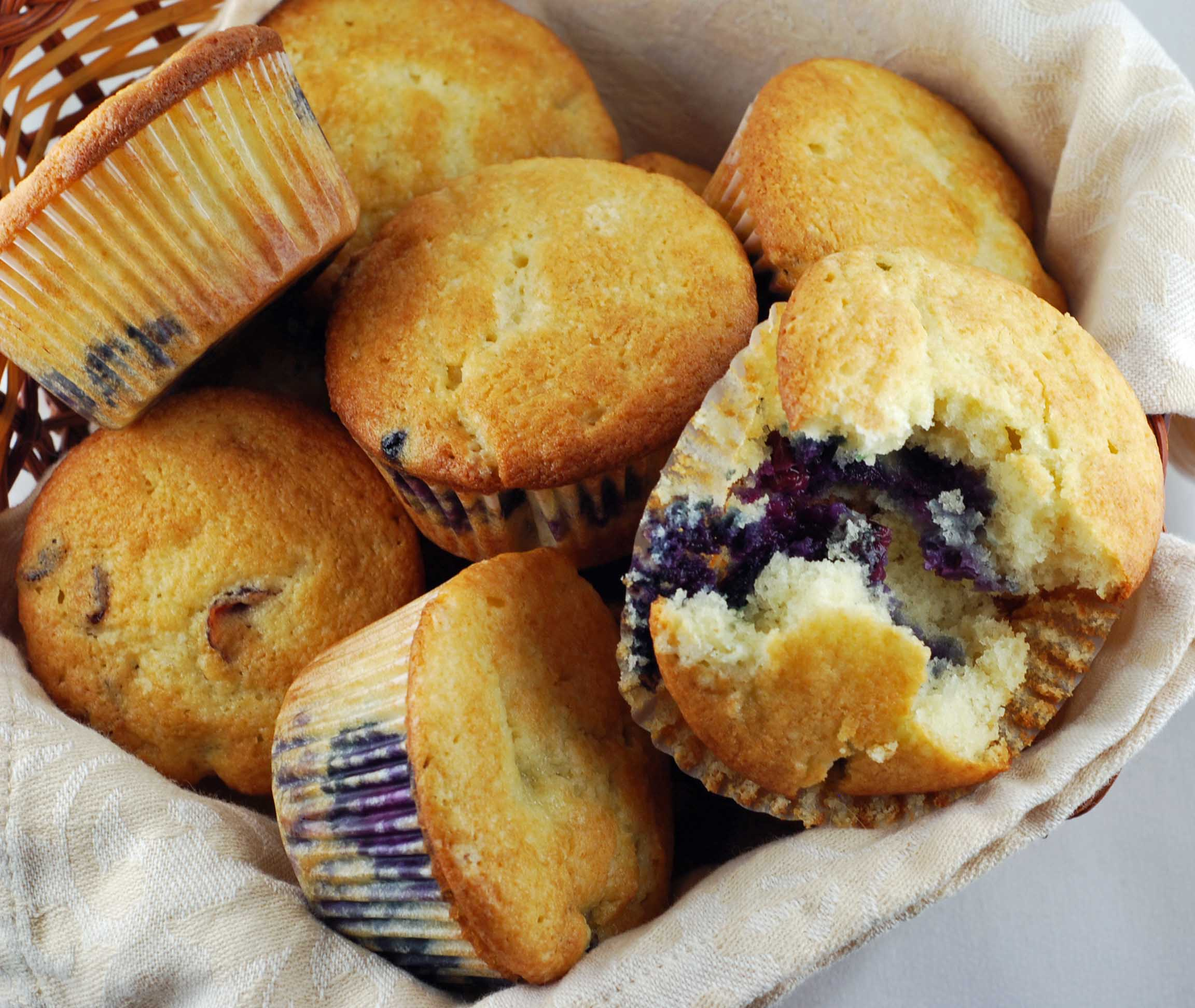 Blueberry Coffee Cake Muffins | Blissfully Delicious