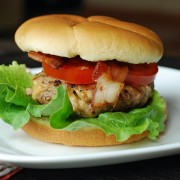 stuffed turkey burger
