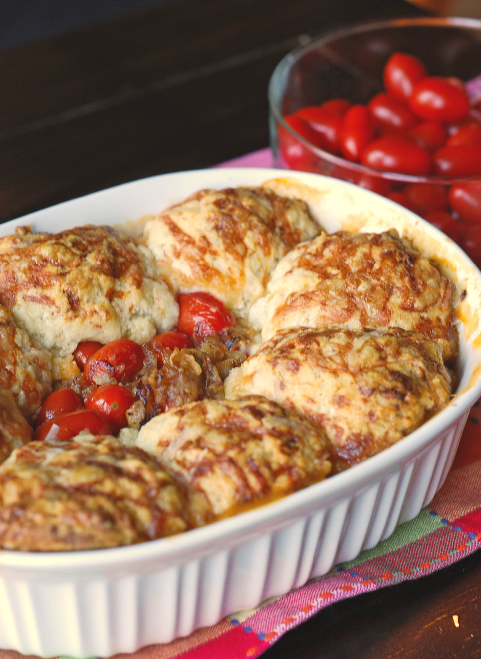 tomato cobbler | Blissfully Delicious