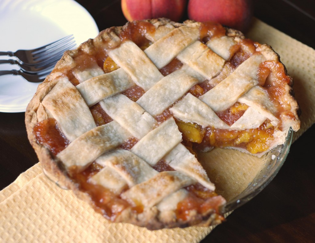 Lattice-Top Fresh Peach Pie | Blissfully Delicious