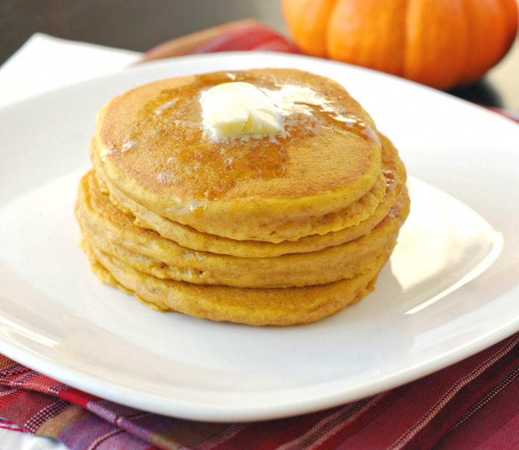 Whole Wheat Pumpkin Pancakes | Blissfully Delicious