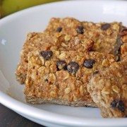 banana oat bar