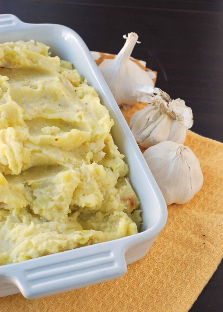 roasted garlic mashed potatoes this one while so delicious takes