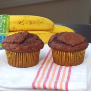 double chocolate banana muffin