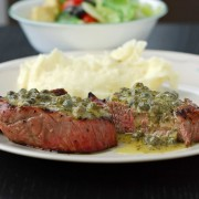 Seared Flank Steak with Shallot-Mustard Sauce | Blissfully ...
