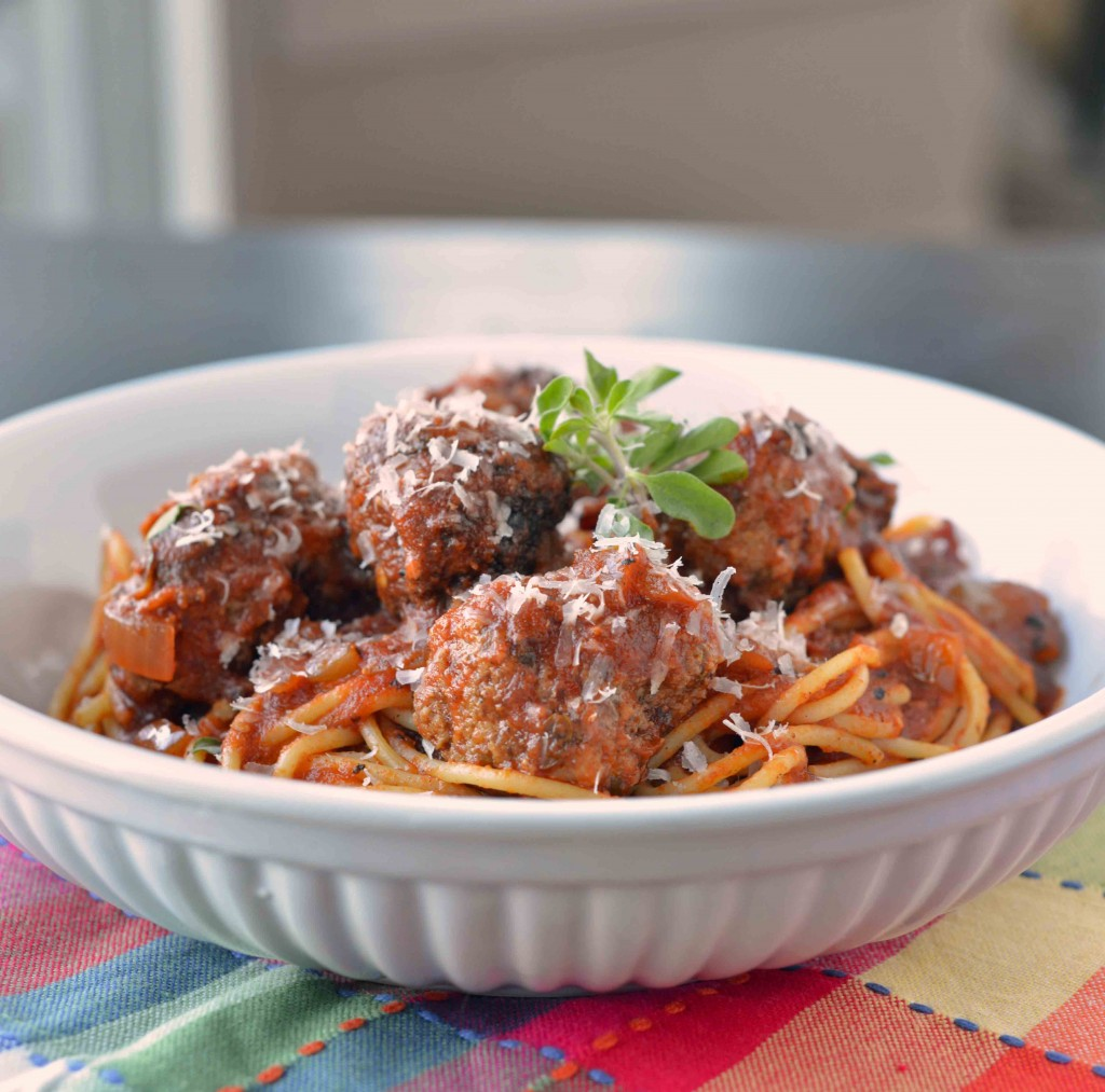 Spaghetti and Meatballs All'Amatriciana | Blissfully Delicious