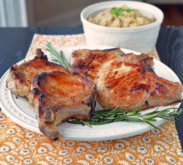 rosemary and orange pork chops