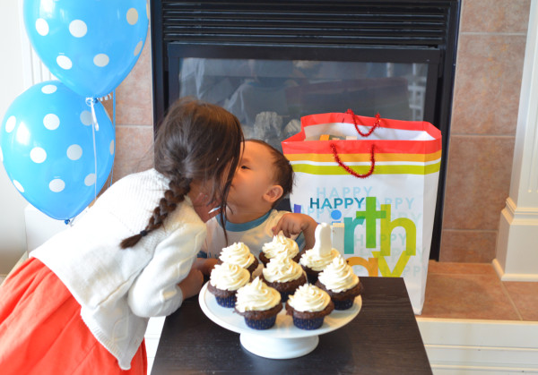 Liams bday kiss